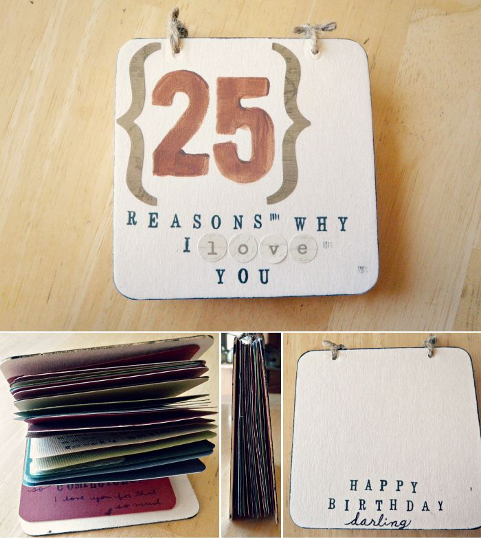 oh whimsical me DIY Gift for Him 25 Reasons Why I Love You