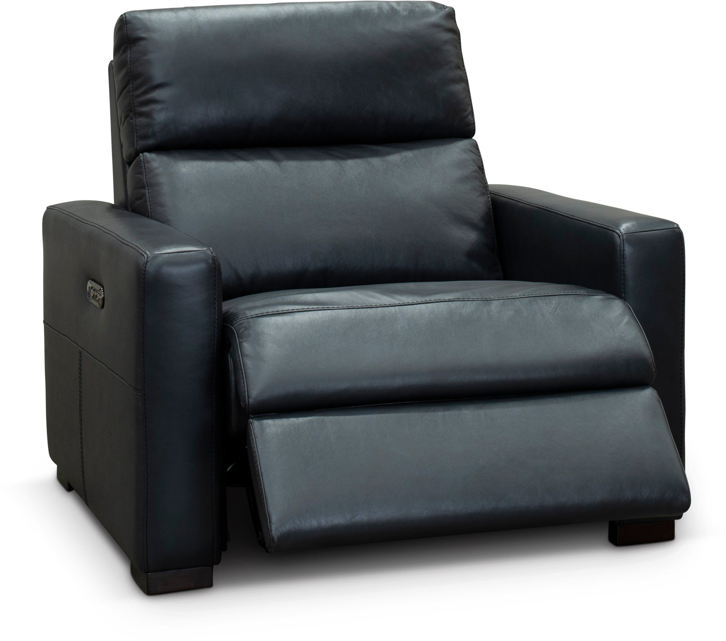 Tremendous Navy Blue Leather Match Power Recliner Chair And A Half Gmtry Best Dining Table And Chair Ideas Images Gmtryco
