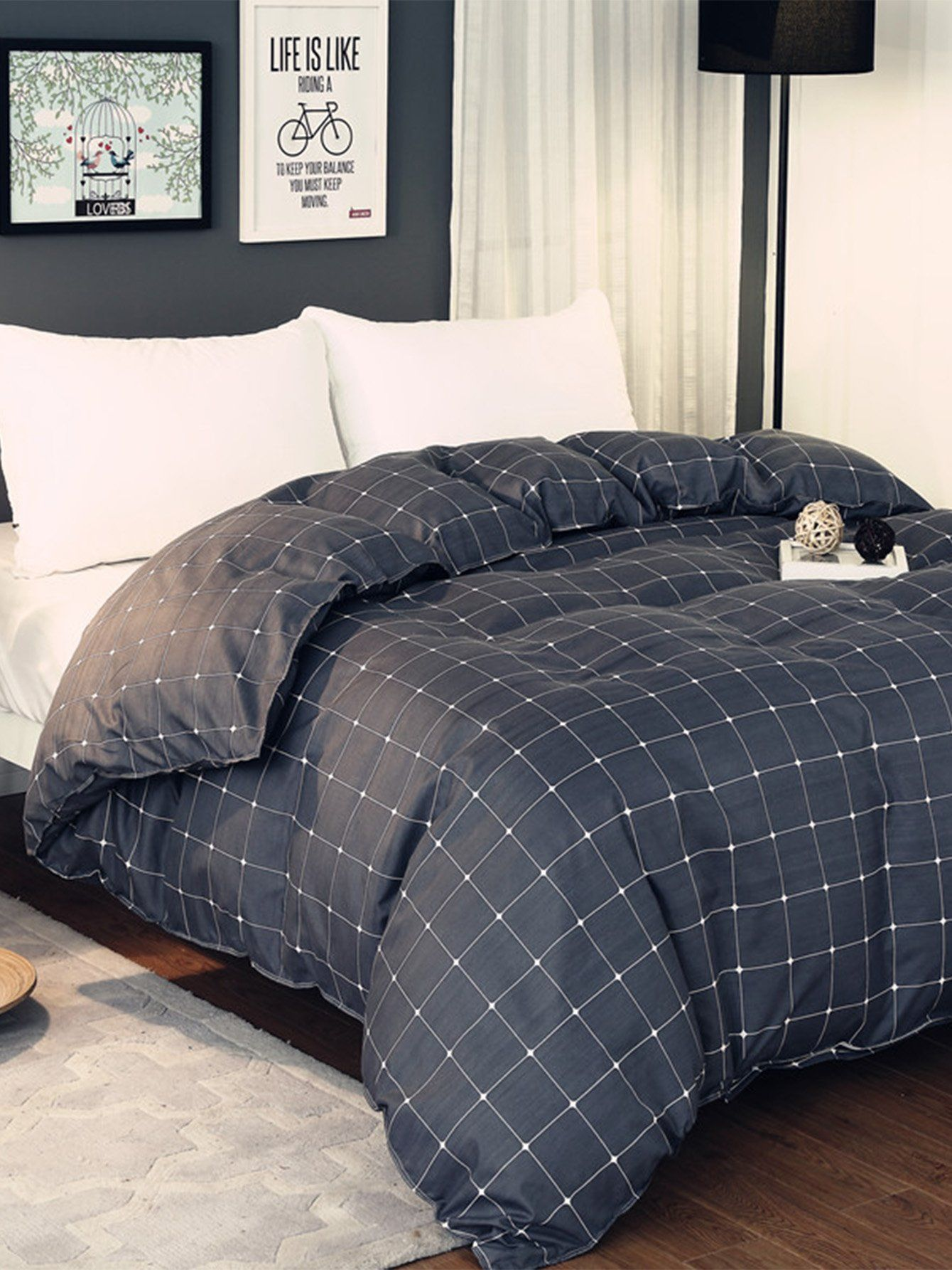 Brilliant 4pcs Bed Set Stripe Plaid Boy Girl Child 1.5m 1.8m 2.0m Full King Queen Twin Double Single Size Bed Sheet Duvet Cover Bedlinens Solar