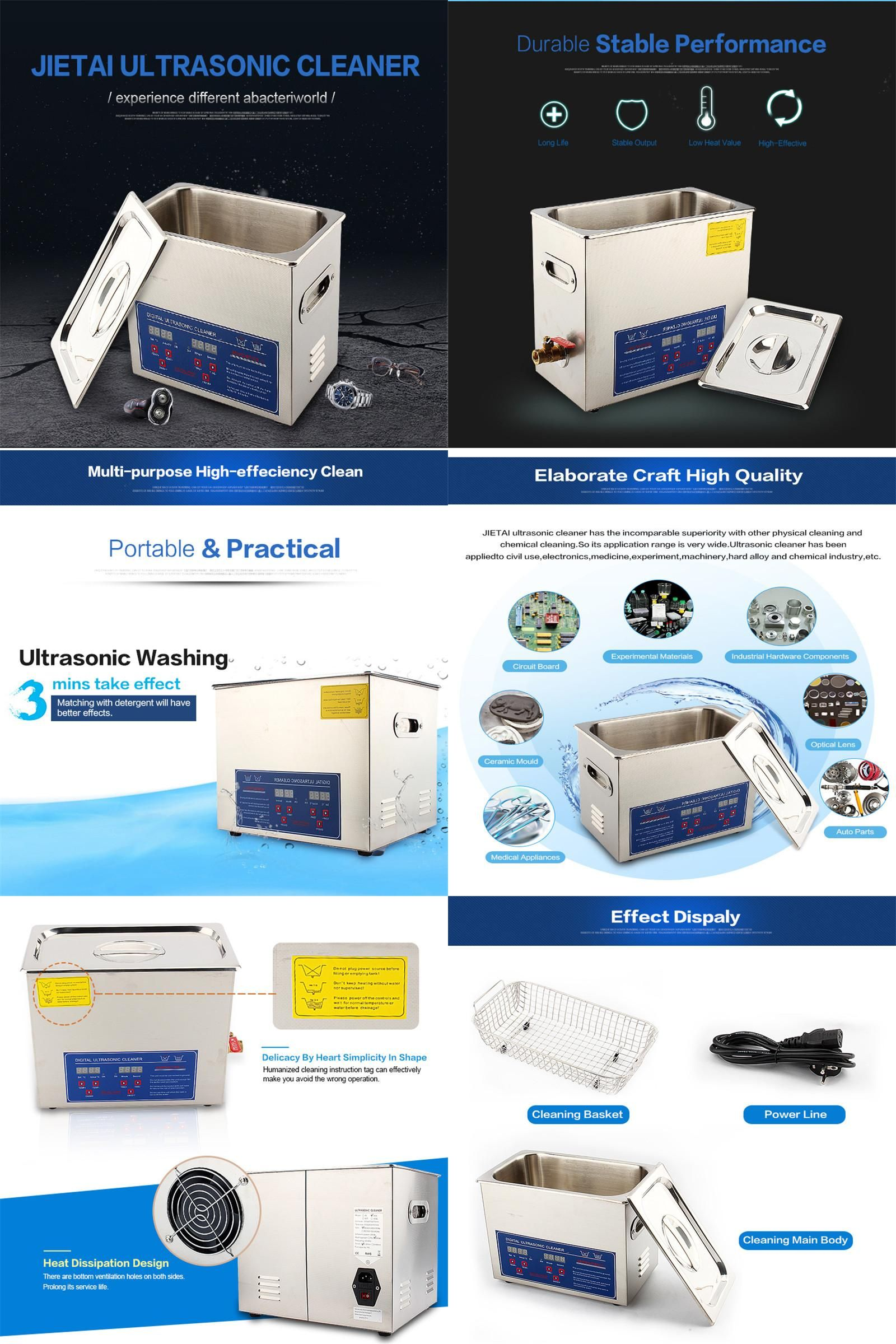 Visit To Buy 480w 22l Digital Stainless Steel Ultrasonic Cleaner Transducerultrasonic Humidifier Piezoelectric Transducertransducer Ultra Sonic Cleaning Machine