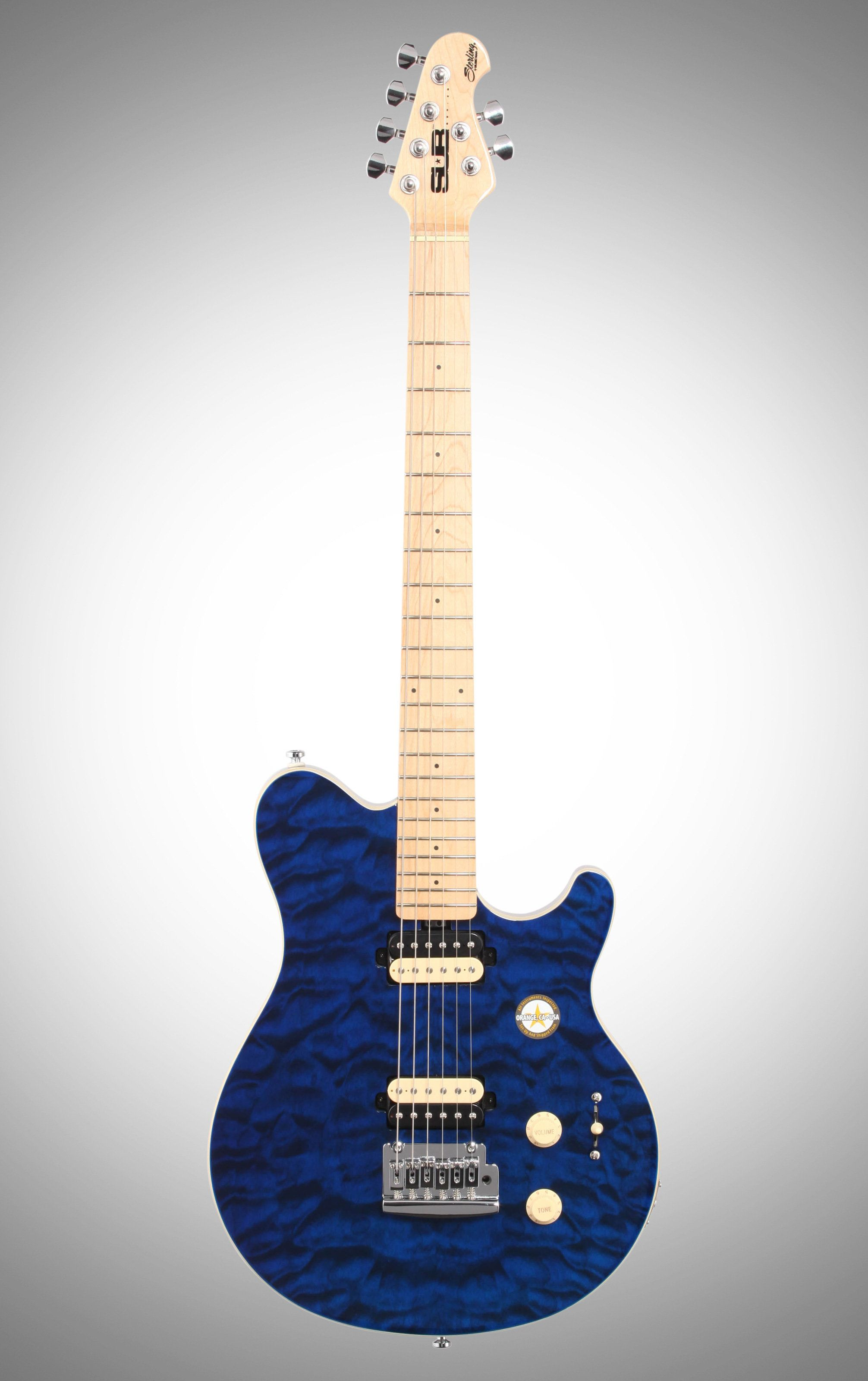Sterling By Music Man Sub Axis Ax3 Electric Guitar Transparent Blue Guitar Electric Guitar Music