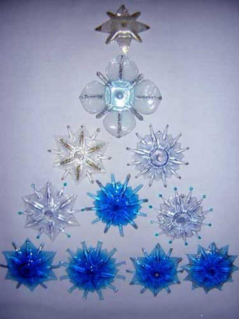Stella Di Natale Con Bottiglie Di Plastica.Riciclo Creativo Stelle Di Natale Con Bottiglie Di Plastica X