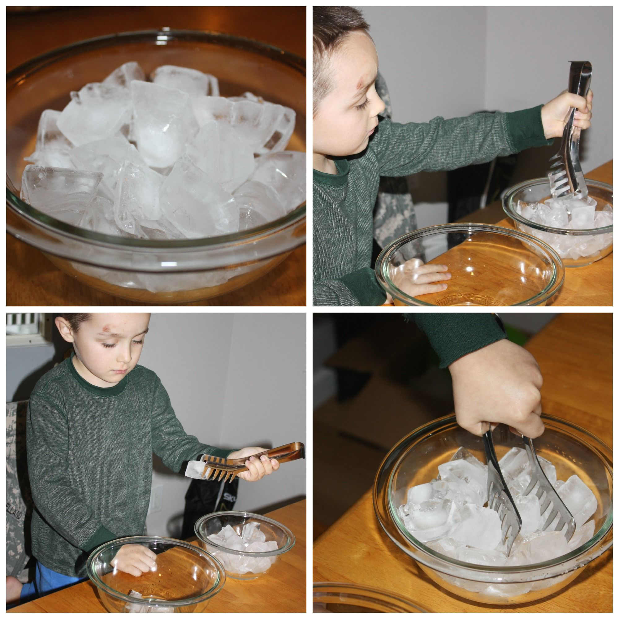 Water Science Experiment Solids Liquids Gasses