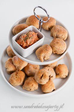Panini minuscoli ripieni con funghi piccanti