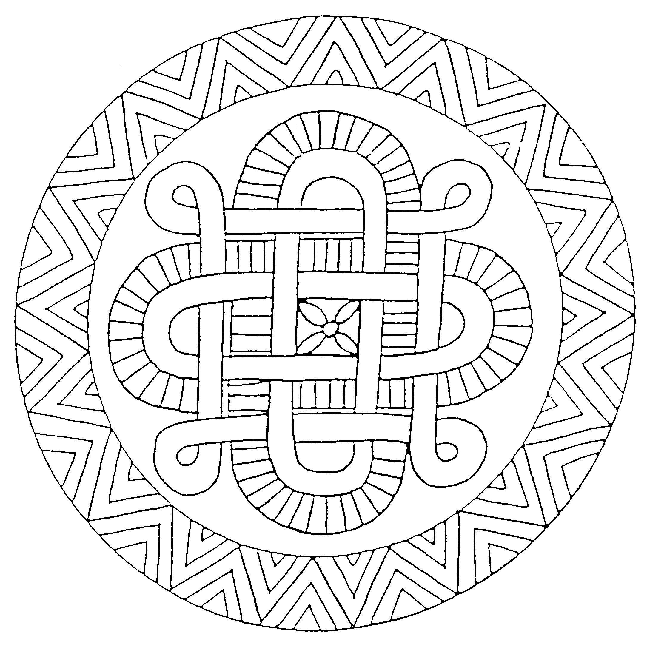 Coloriages Mandala en étoiles image  imprimer 18