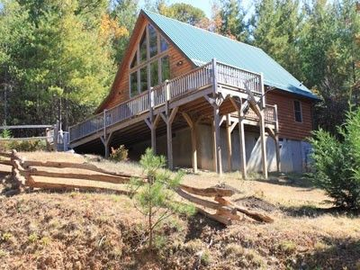 Front View Of Big Bear Cabin Including The Secluded And Wooded