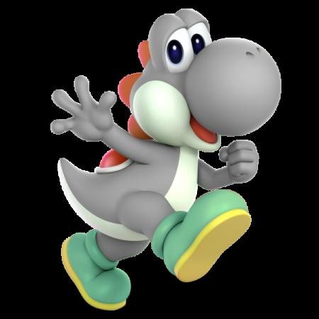 Gray Yoshi In Super Smash Bros Ultimate Yoshi Mario Yoshi Baby Dragon