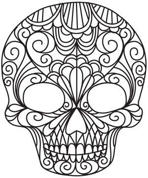cool designs to trace. Delicate Skull Design From UrbanThreads: Embroidery Pattern Cool Designs To Trace