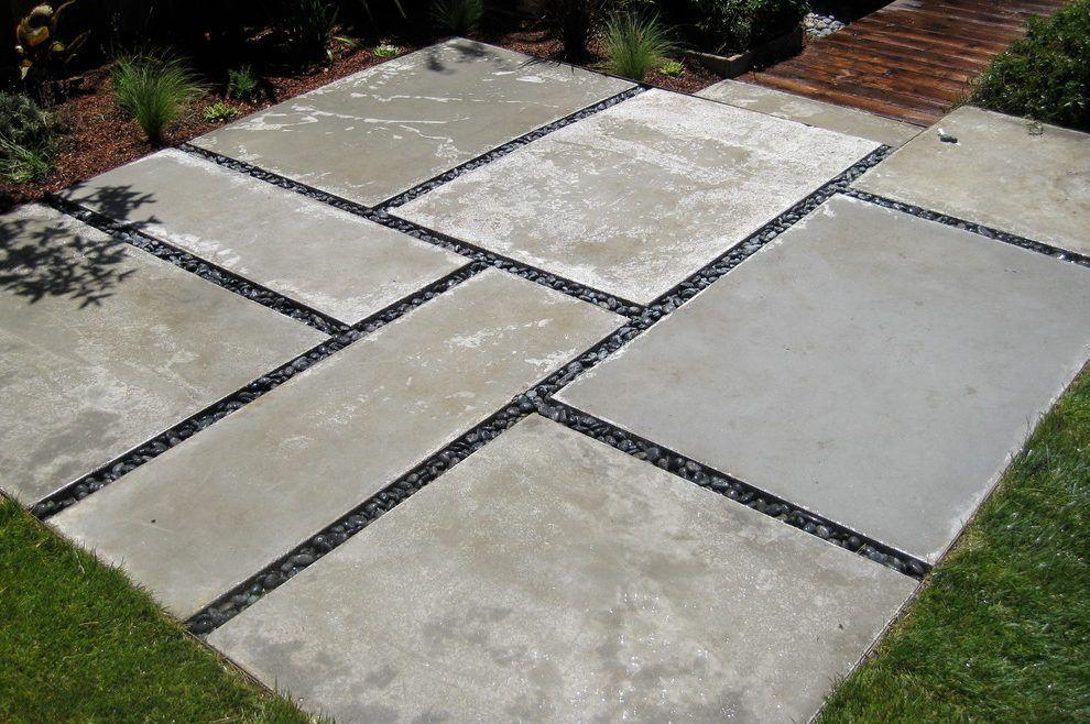 Stylish Large Patio Pavers With Large Concrete Pavers Landscape