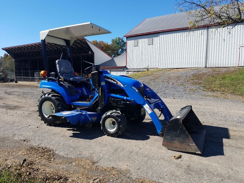 2006 New Holland Tz25da Compact Tractor W Loader Belly Mount Lawn Mower Hydro Lawn Mower Compact Tractors New Holland