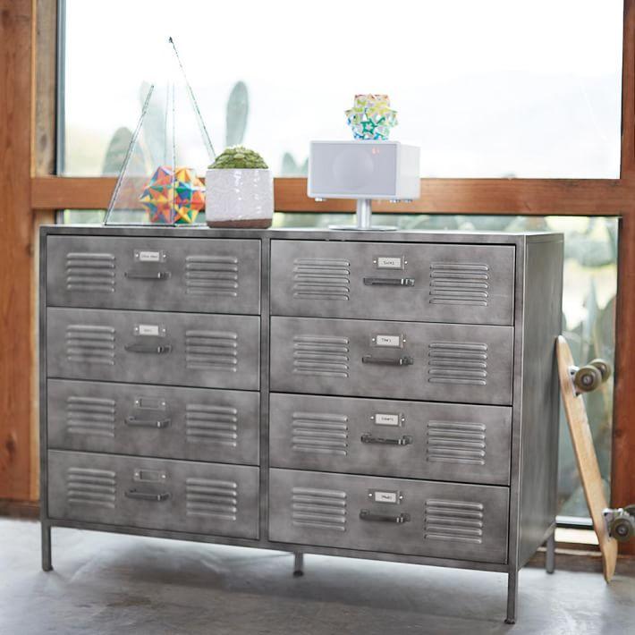 Locker Wide Dresser Vintage Industrial Furniture Furniture