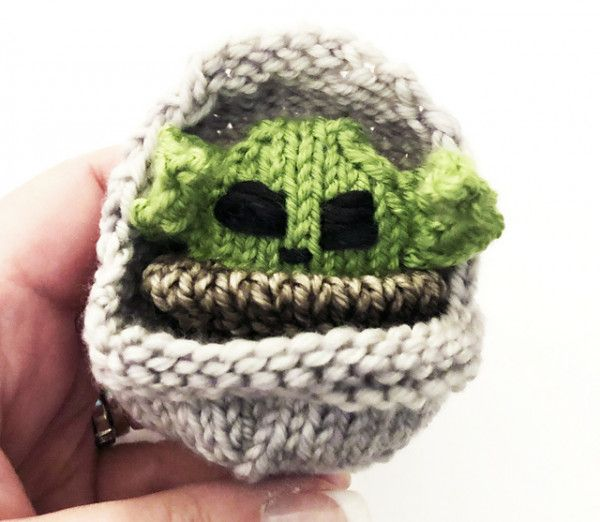 Knit a Tiny Child Baby Yoda from the Mandalorian in 2020 ...