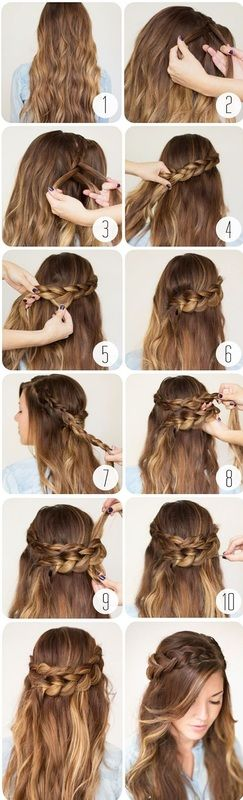 Easy Cute Hairstyles Amazing Easy Hairstyles For School For Teenage Girls  Google Search  Cute