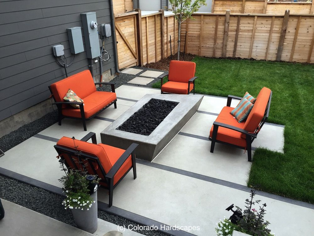 Simple colors and lines for extraordinary outdoor concrete ... on Front Range Outdoor Living id=16929