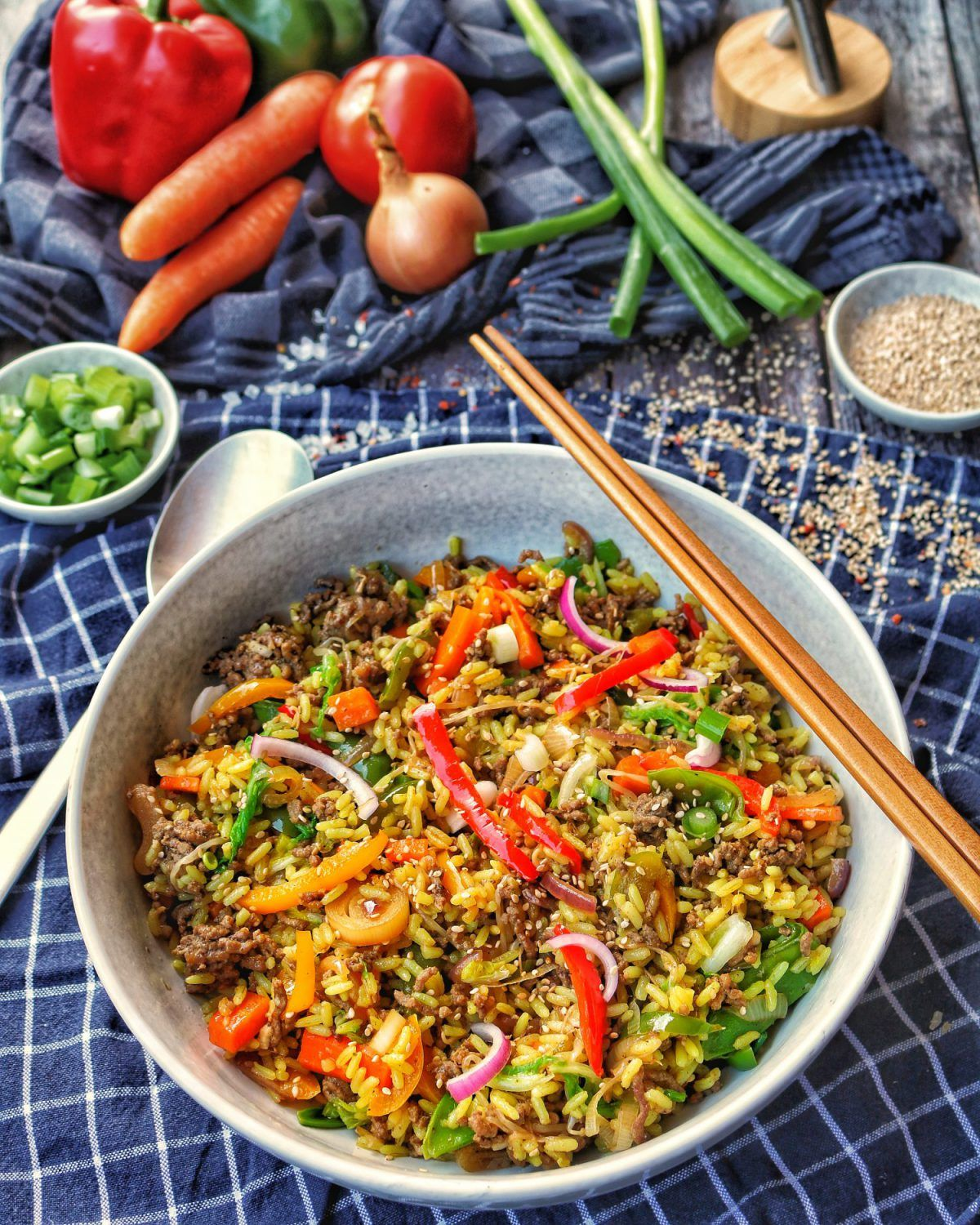 Photo of Asia Rice Pan with Vegetables and Ground Beef – Recipes – Cooking Recipes – Cooking – In …