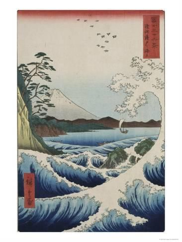 'The Sea at Satta in Suruga Province' Giclee Print - Ando Hiroshige | Art.com