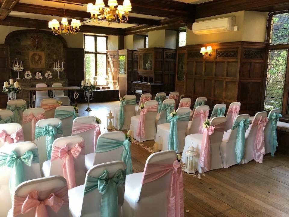 Pink Mint Green Tiffany Blue Sashes Rothley Court Wedding Chair Covers Chair Covers Wedding Wedding Chairs Chair Covers