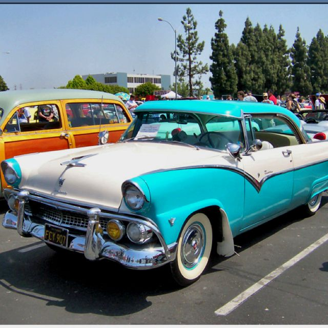 My Dream Car!!!! A 1955 Ford Fairlane In Robin Egg Blue