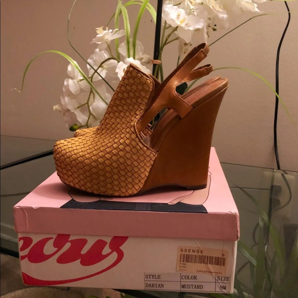760236d26e Jeffrey Campbell Shoes   Jeffery Campbell Darian Wedges   Color: Yellow    Size: 9