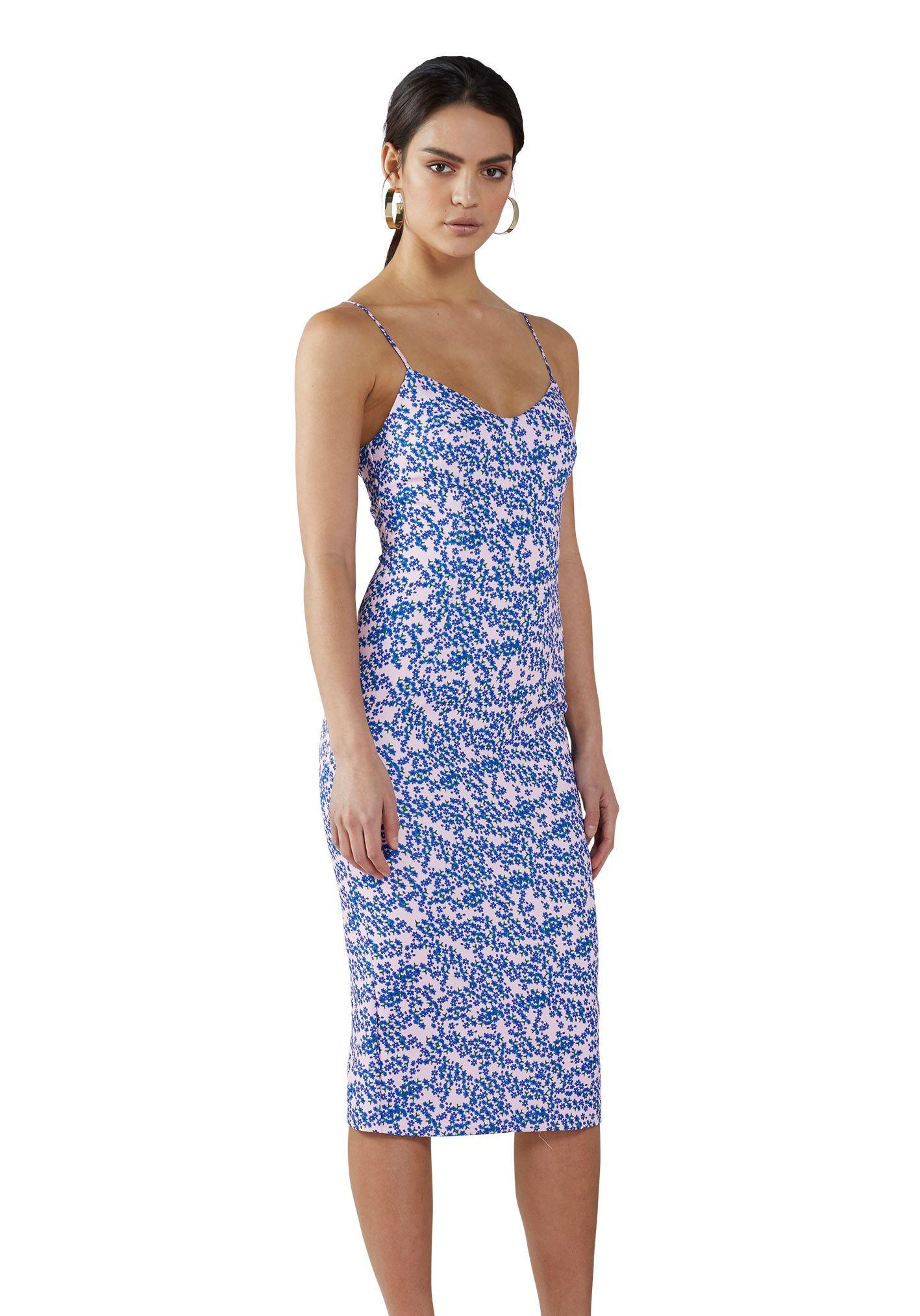 183cb9d687 BY JOHNNY. Dahlia-Berry Midi V-Neck Dress