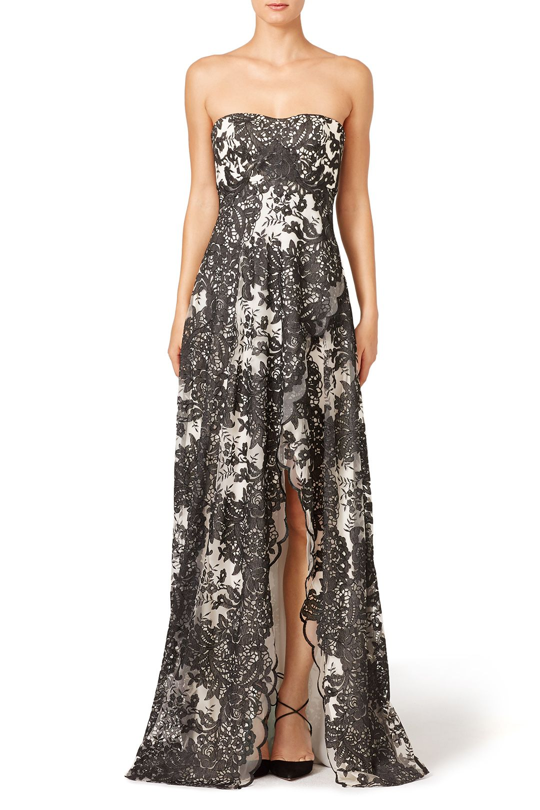 Smoked Ivy Dress by Marchesa Notte ($1095 retail or rent for $175) | Rent The Runway