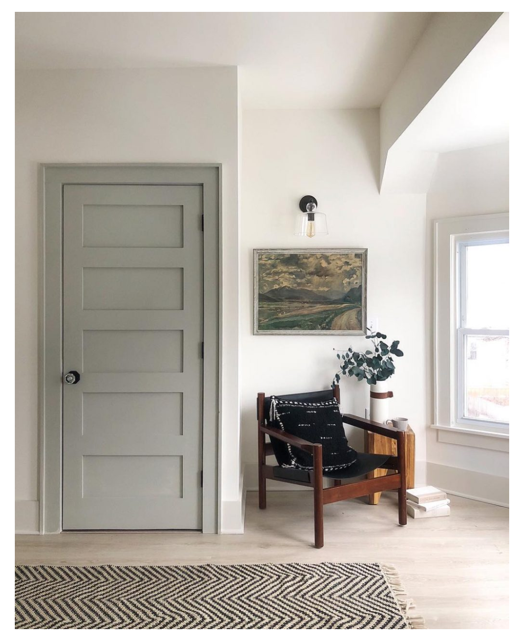 Casual Saturday What S In A House Name Willow An Inspiring Interior Paint Combination Weekend In 2021 Grey Interior Doors Painted Interior Doors Doors Interior