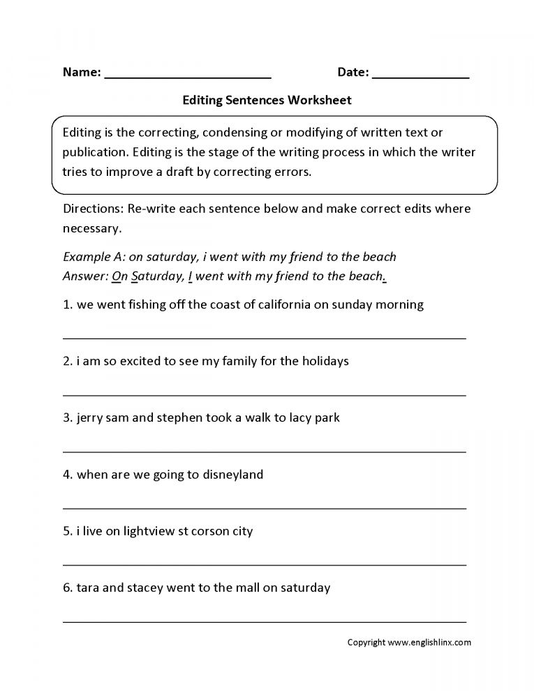 41++ Paragraph editing worksheets Most Effective