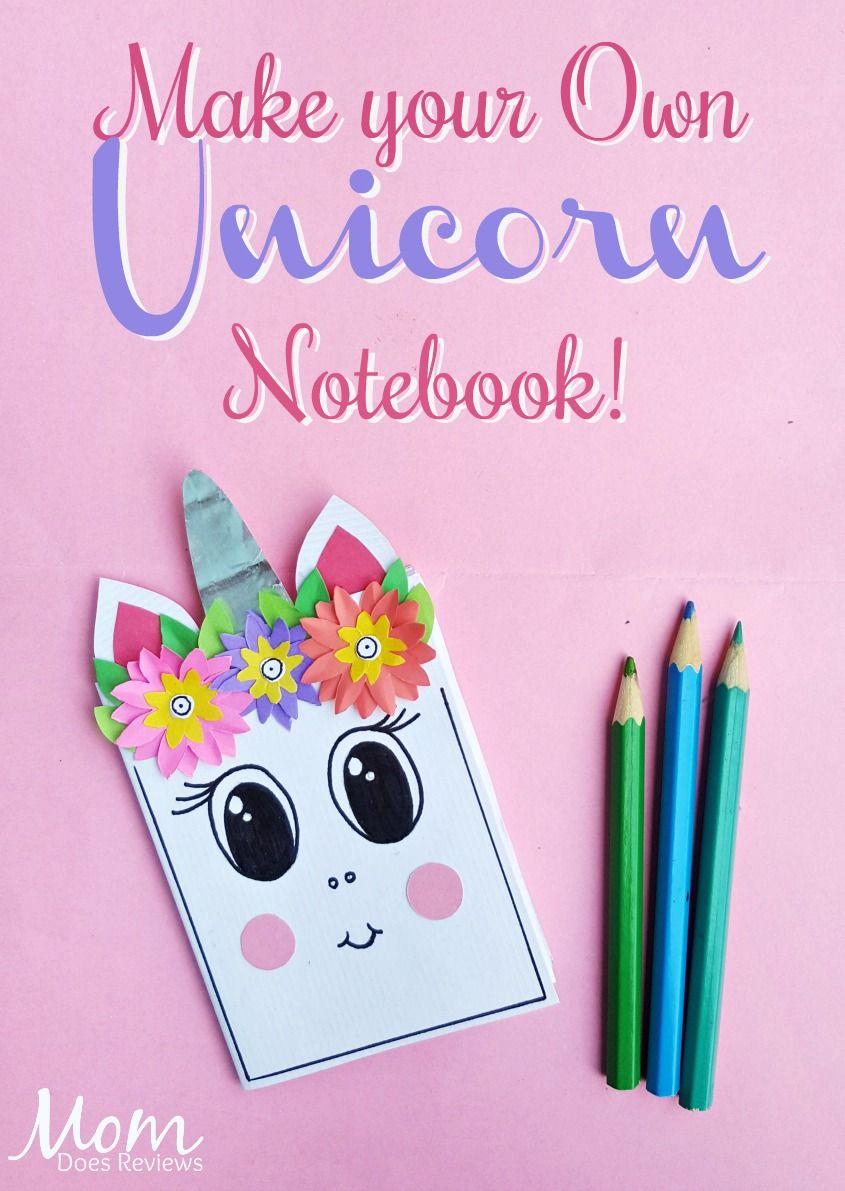 Diy Unicorn Notebook All Things Unicorns Diy Crafts Fun Crafts