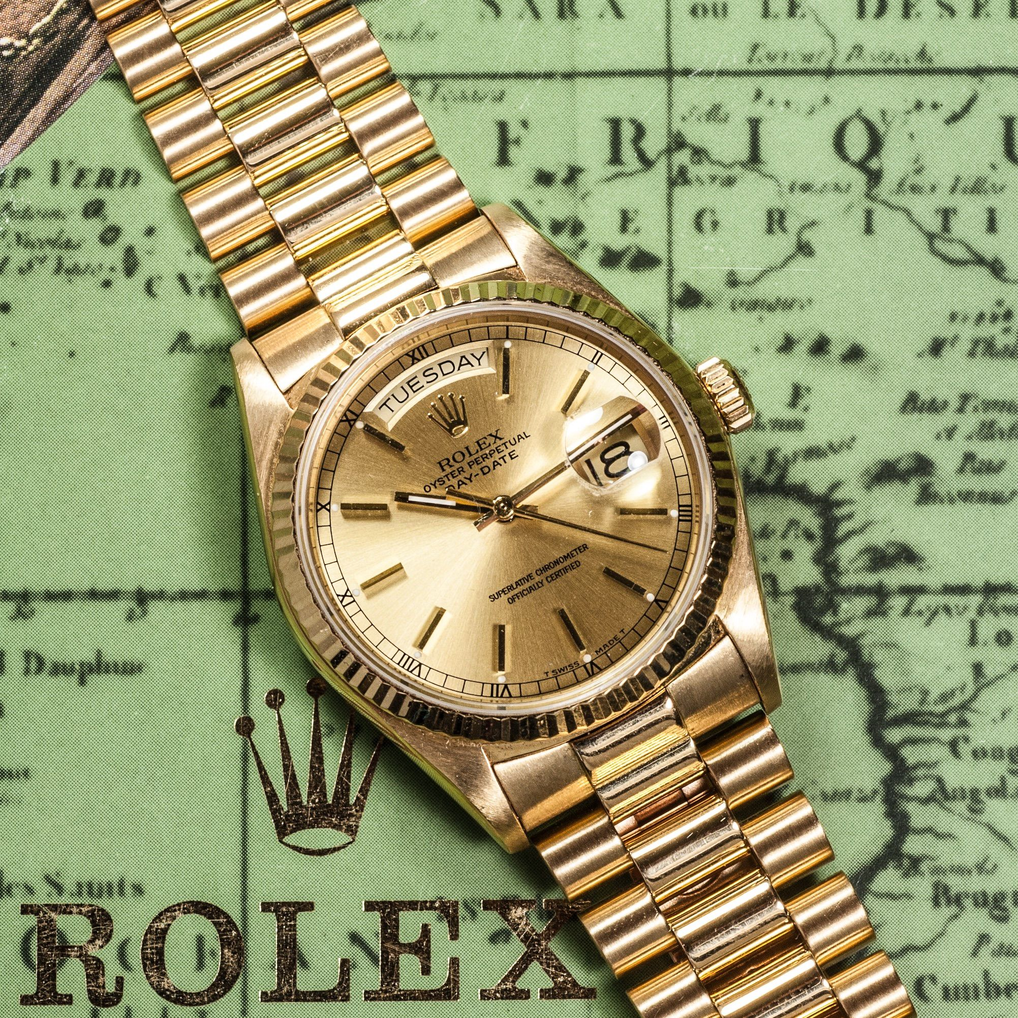 presidential gold watch blue watches collected oyster buy day a dial rolex vintage cal date man products perpetual