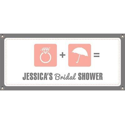 bridal shower icons banner