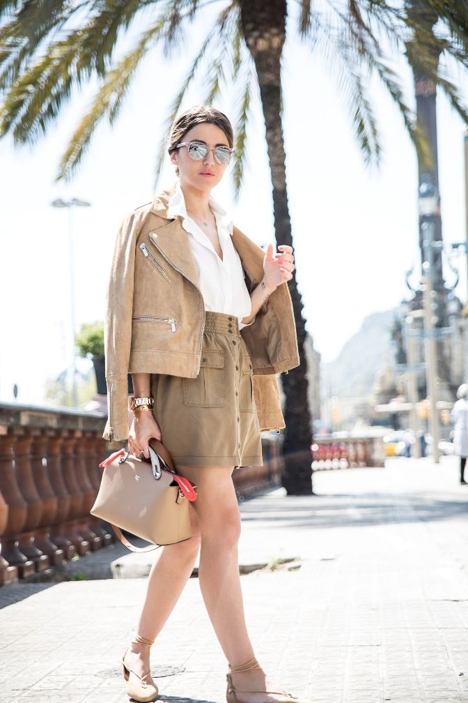 6dbcd048a4a3 cute outfits with brown pants simple khaki button front skirt summer outfit  bmodish
