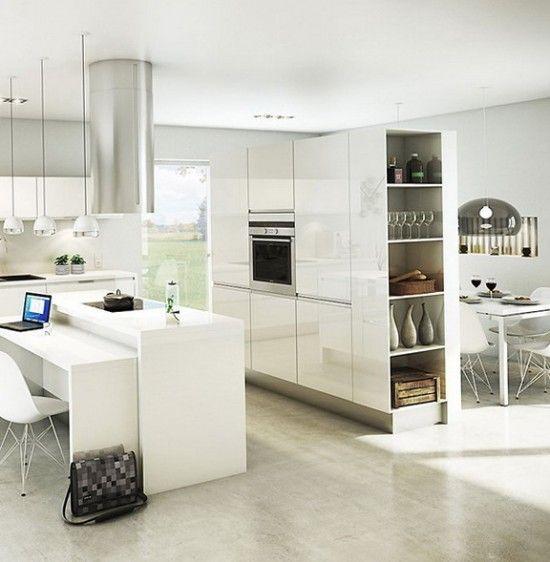 Cocinas Modernas Decoradas En Colores Claros Cocinas Modernas Decoracion De Cocina Moderna Cocinas