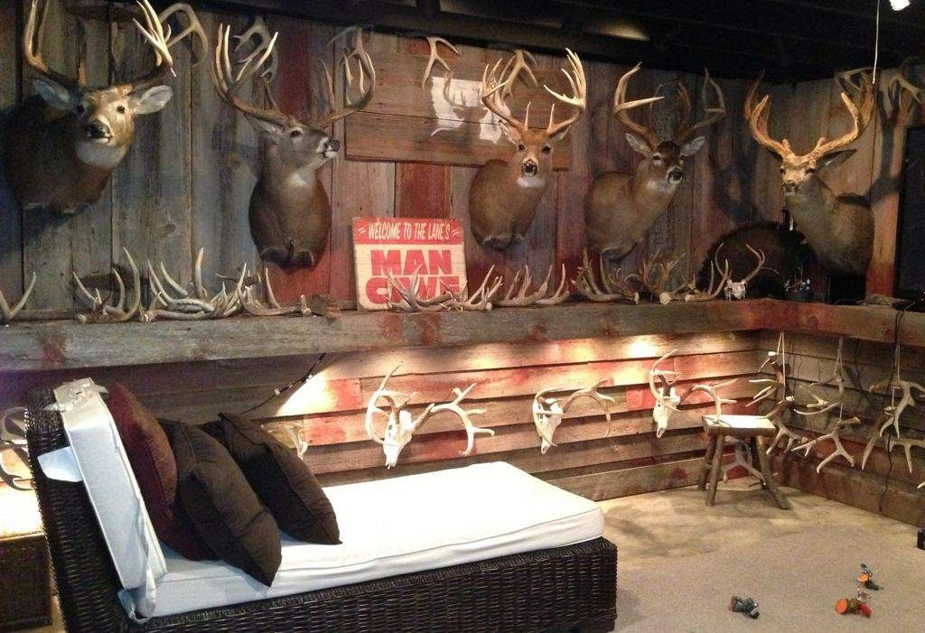 23 Incredible Fisherman Cabin Decoration Ideas Rustic Man Cave Hunting Room Hunting Man Cave