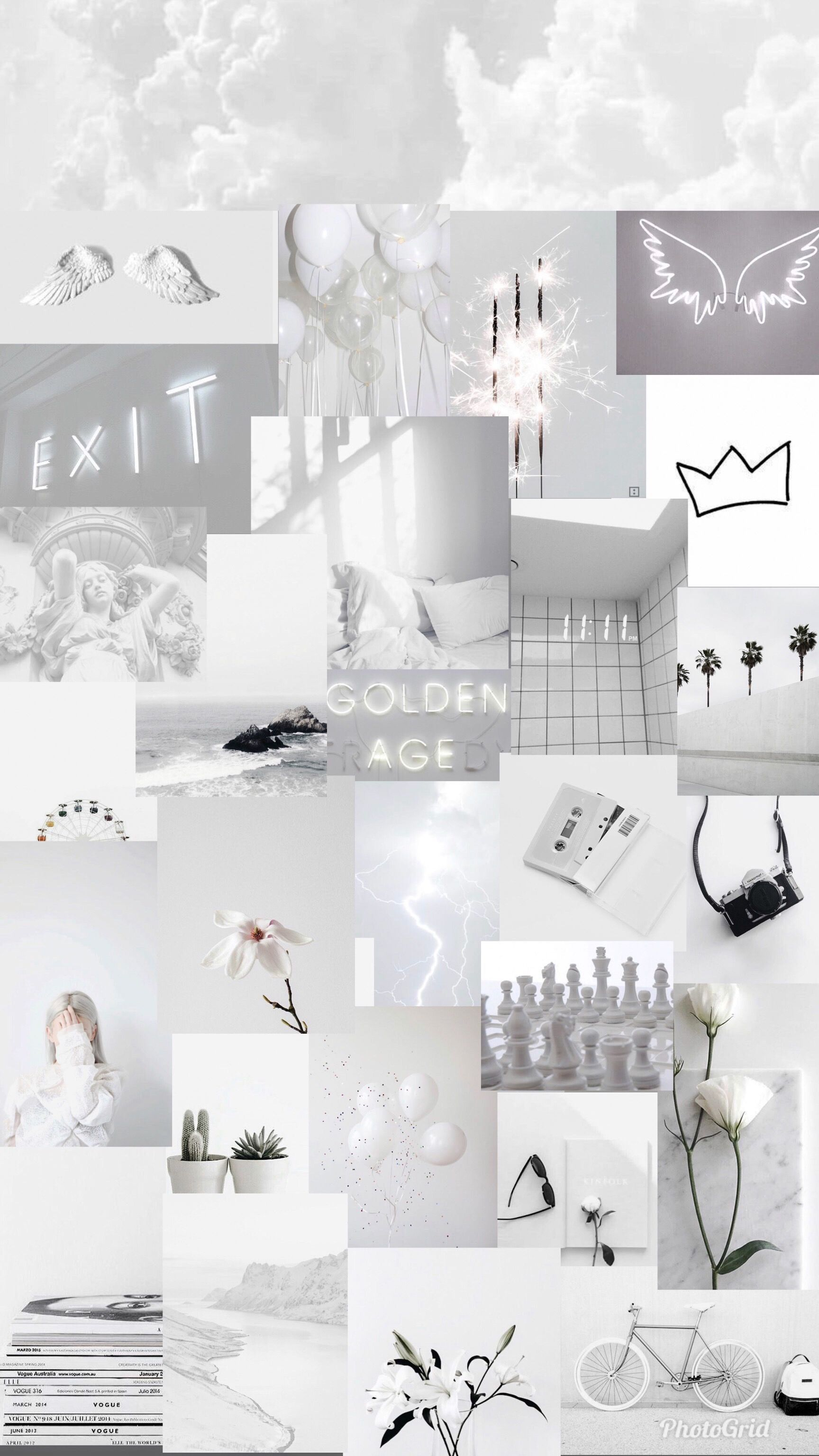 background putih aesthetic