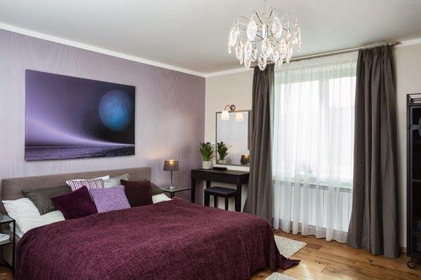 idée déco Chambre noir blanc et violet | decoration et design d ...