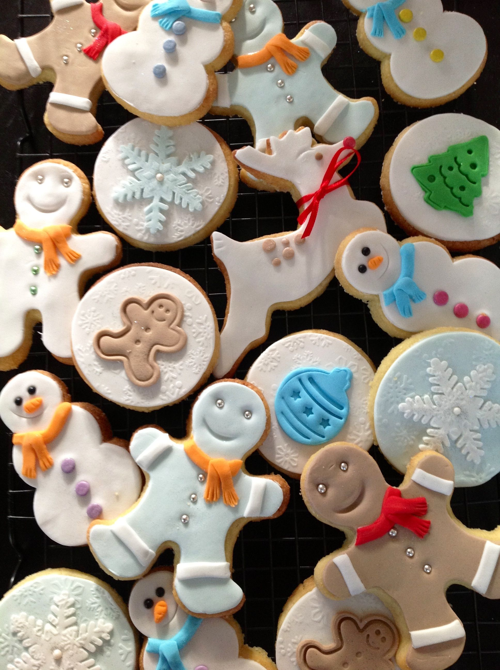 Christmas In July Fondant Sugar Cookies For The School Disco