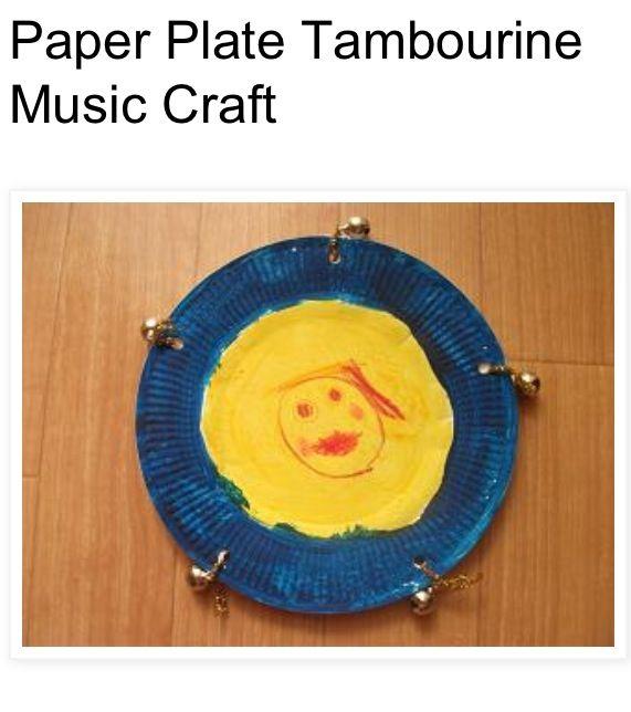 Paper plate tambourine! | HCDC crafts | Pinterest | Craft