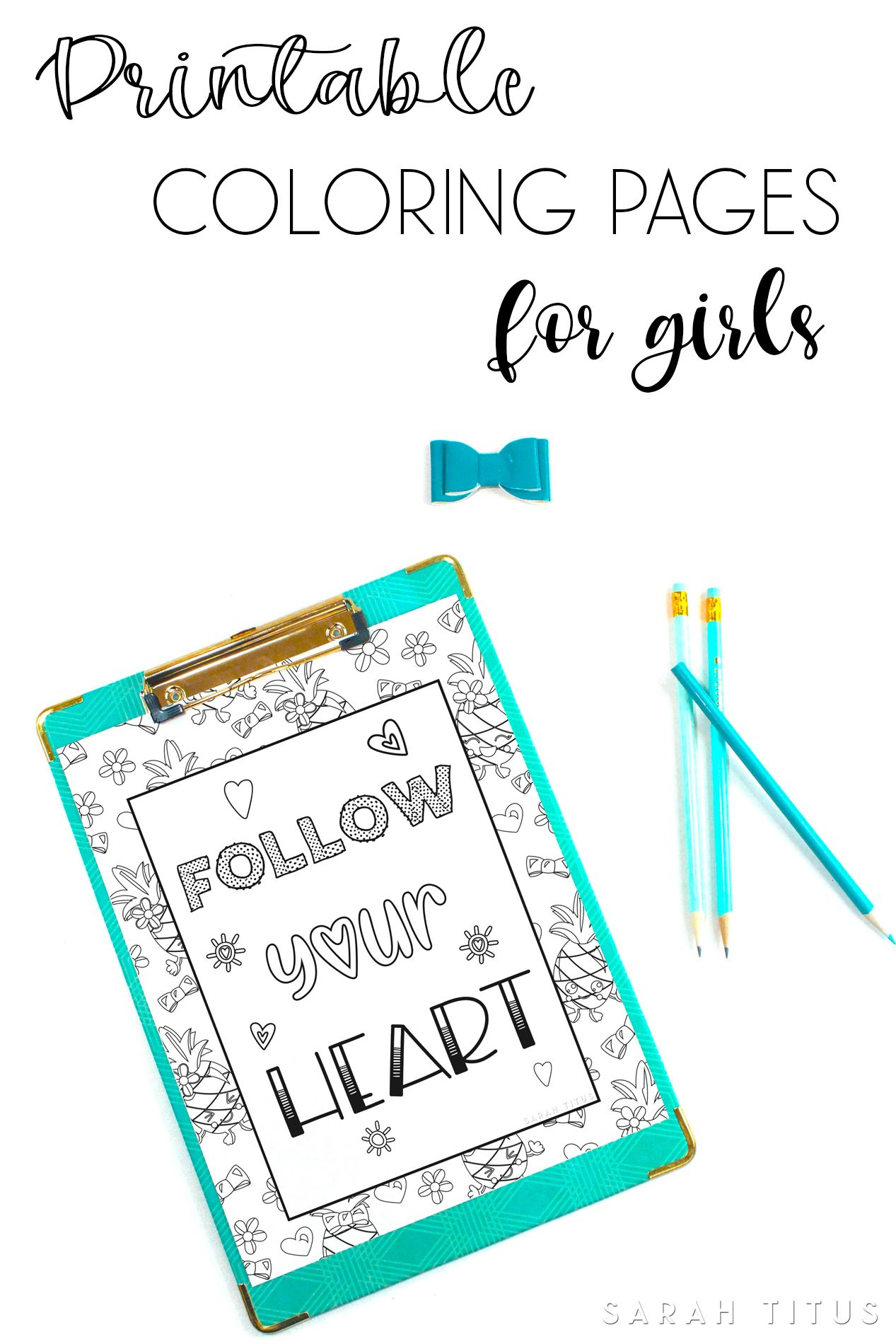 Printable Coloring Pages for Girls | Frugal and Money Saving Group ...