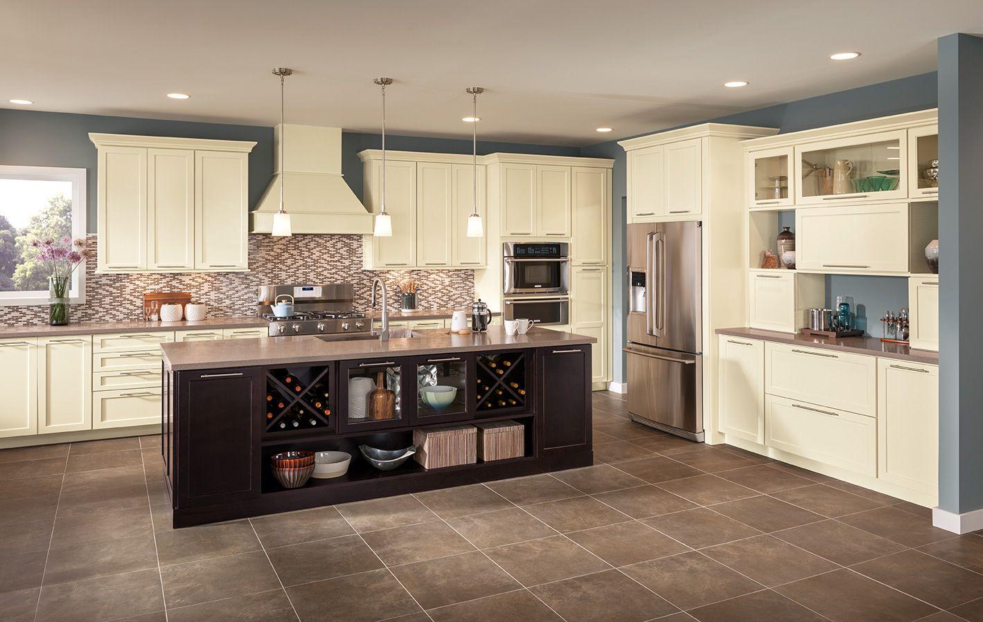 Best Kitchen Gallery: Shenandoah Cabi Ry Island In Breckenridge Maple Espresso of Shenandoah Kitchen Cabinets on rachelxblog.com