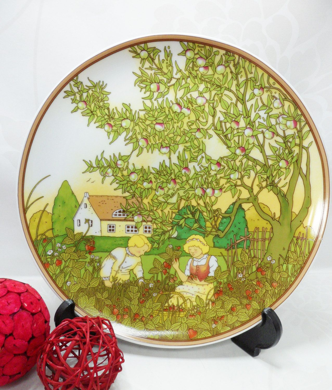 Heinrich Villeroy and Boch Four Seasons Plate Summer Large ...