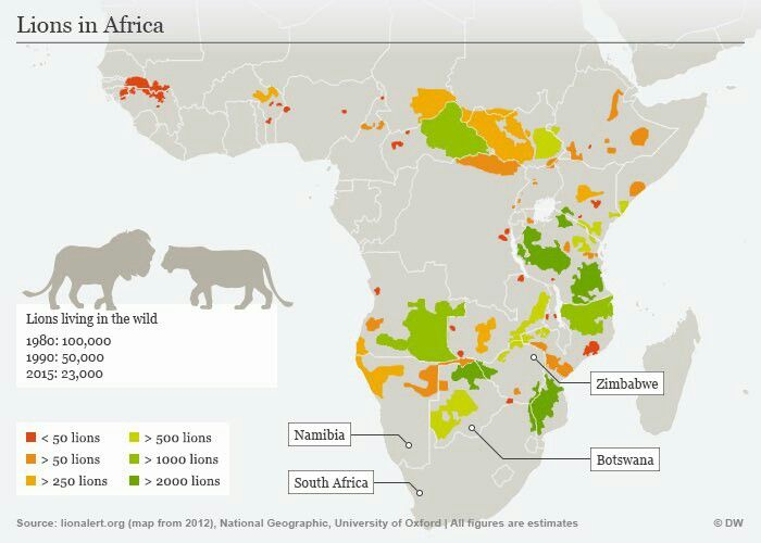 Lions in #Africa #Map | Malawi Maps & Africa Maps that include