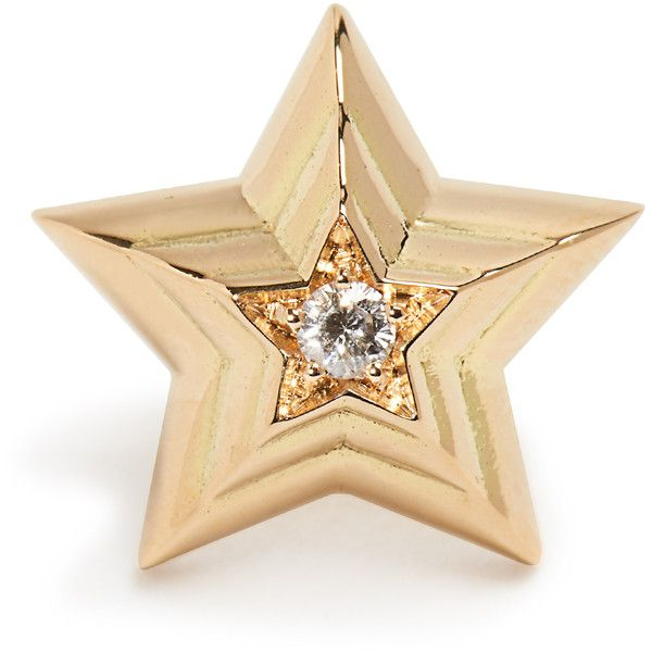 Delfina Delettrez Diamond & yellow-gold earring ($551) ❤ liked on Polyvore featuring delfina delettrez