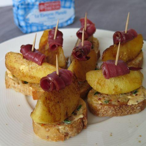 Bouchées aux pommes & magret fumé | Audrey Cuisine