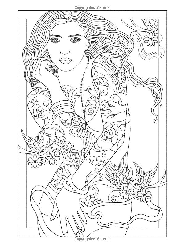 Body Art Tattoo Designs Coloring Book Dover Design Coloring Books Marty Noble 0800759489466 Am Designs Coloring Books Tattoo Coloring Book Coloring Pages