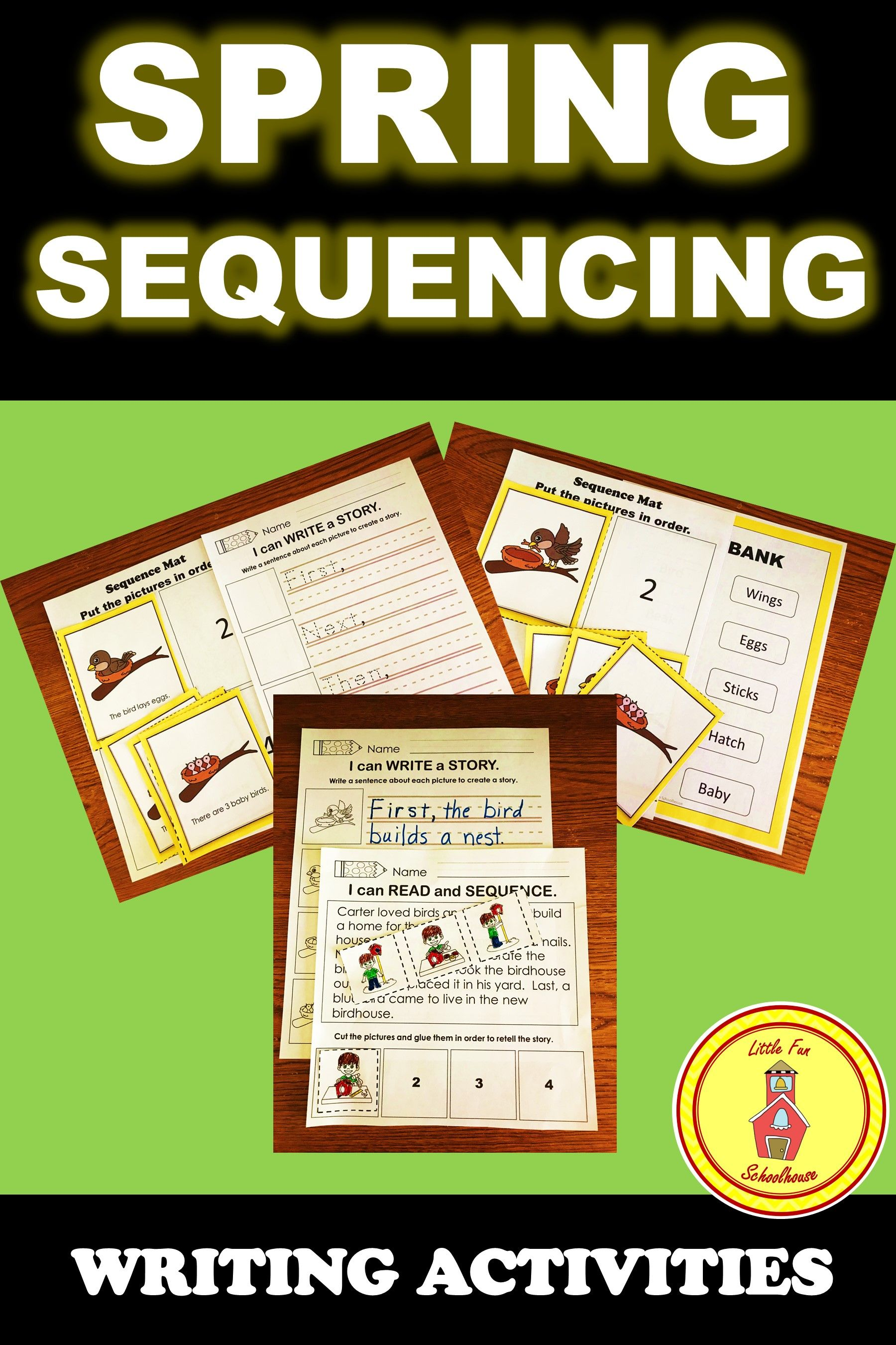 Spring Sequencing Activities With Differentiated Writing