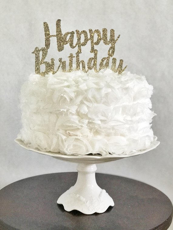 Happy Birthday Cake Topper Glitter Party Decorations For Him Her Age Number And Pick Color Adu