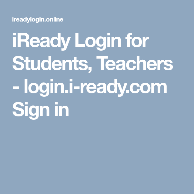 iready login for students teachers login i ready com sign in
