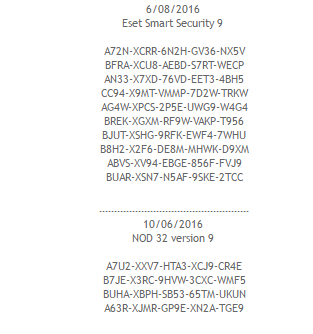 Keys Seriales Licencias Para Eset Nod32 Y Smart Security