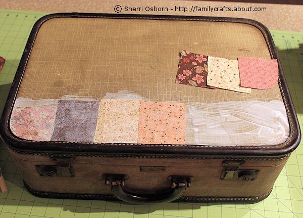 How to Decoupage a Vintage Suitcase in 4 Steps | Vintage suitcases ...