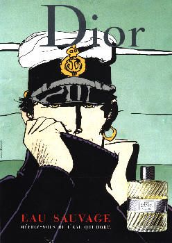 Eau Sauvage by Christian Dior with Corto Maltese (2002).
